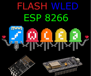 Flash WLED to ESP8266 Based Controllers