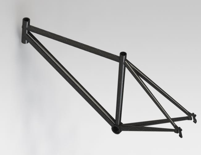 Light and Strong Design for Carbon Fiber Bicycle