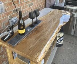 Live Edge Epoxy Resin Custom Outdoor Bar Table