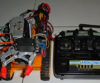 How to Build Gripper Arm Tracked Robot Controlled Via Nrf24l01 Arduino
