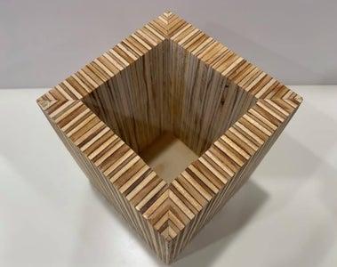 Plywood Plant Pot