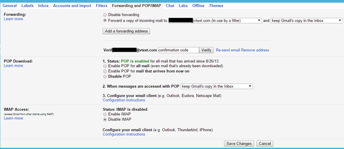 Send a Text Message When Email Is Received