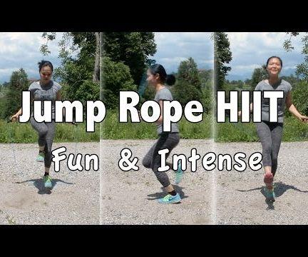 Intense Jump Rope HIIT Cardio Workout