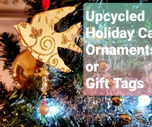 Upcycled Holiday Cards to Make Ornaments or Gift Tags