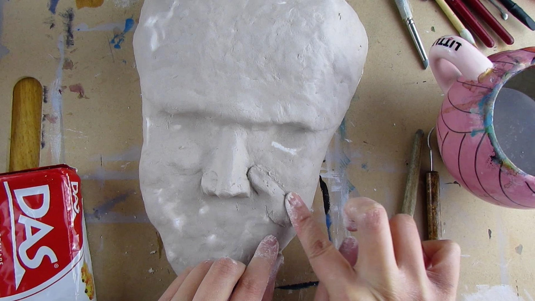 Sculpting the Face With Air Dry Clay