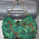 bunch of leaves - felt bag