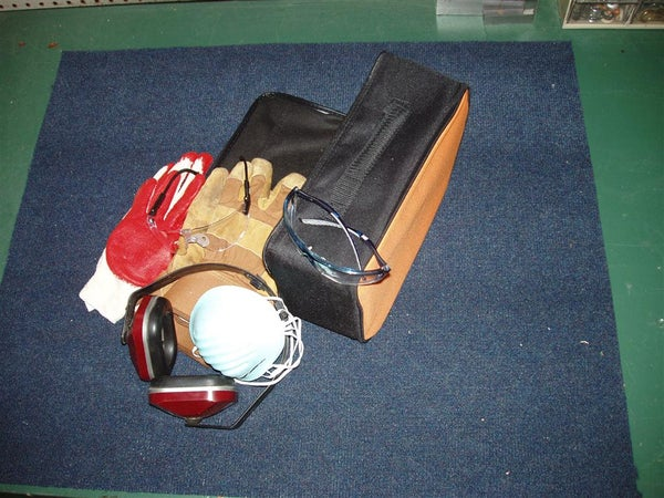 Shop Safety Kit Made From Surplus Tool Case