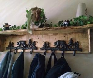Pallet Wood Coat Rack