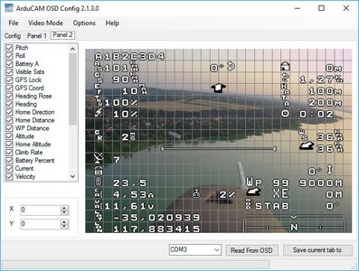MiniOSD CC3d Firmware and Charset