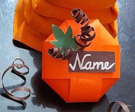 Pumpkin Name Card