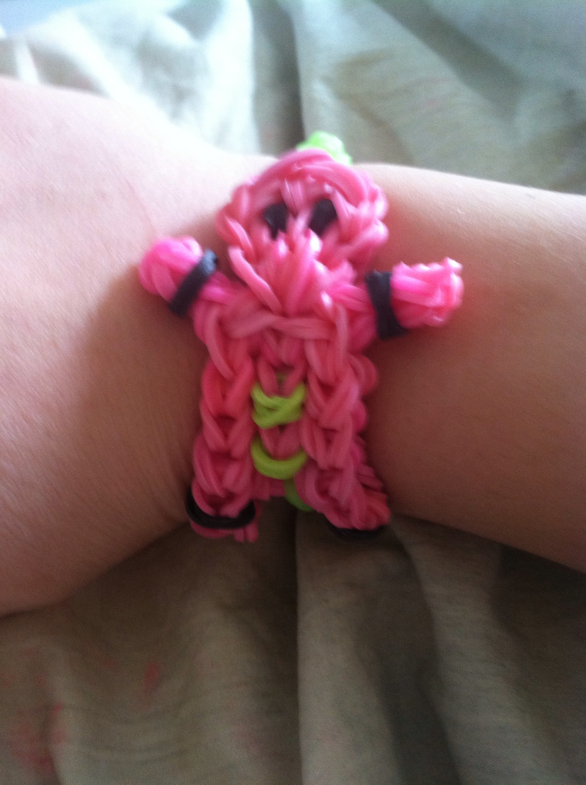 Double Sided Person/Gingerbread Person Bracelet