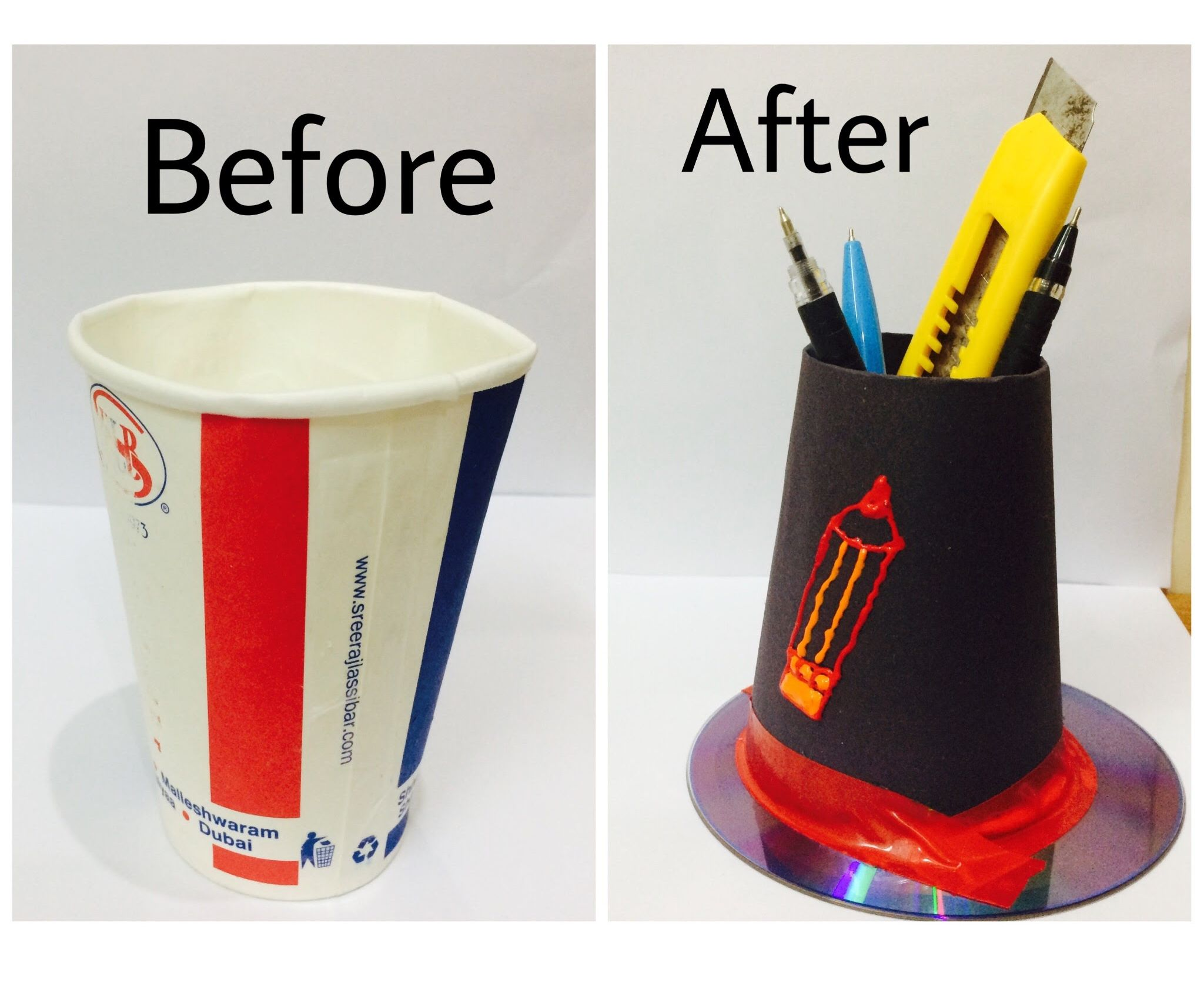 Paper Cup to Stationary Cup