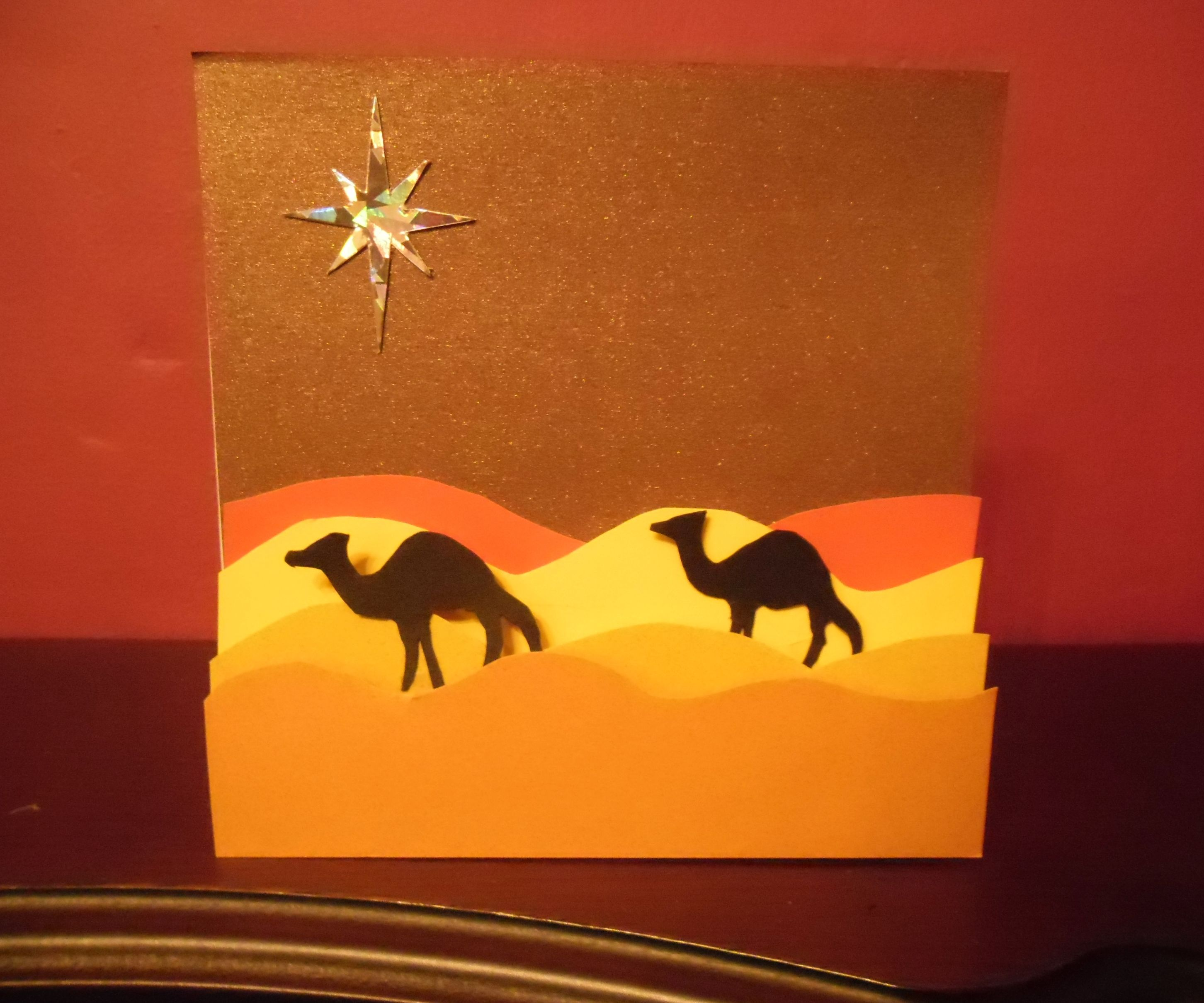 Camel Silhouette card