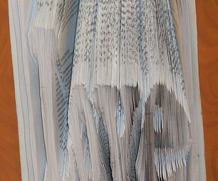 Book Art- How to Fold a Book Into a Word.