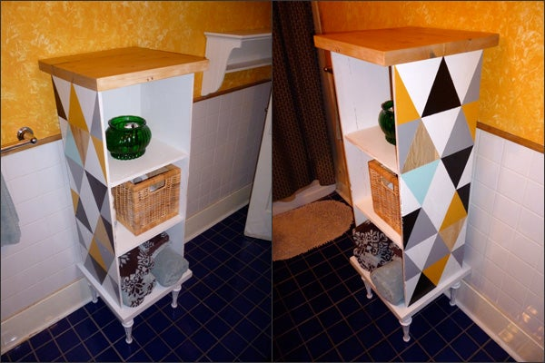 Funky Cabinet Made From Repurposed/found Items