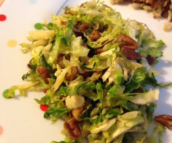 Roasted Brussel Sprouts with Honey and Pecans