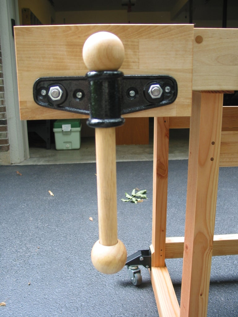 Completing the Vise Assembly & Attaching the Workbench Top