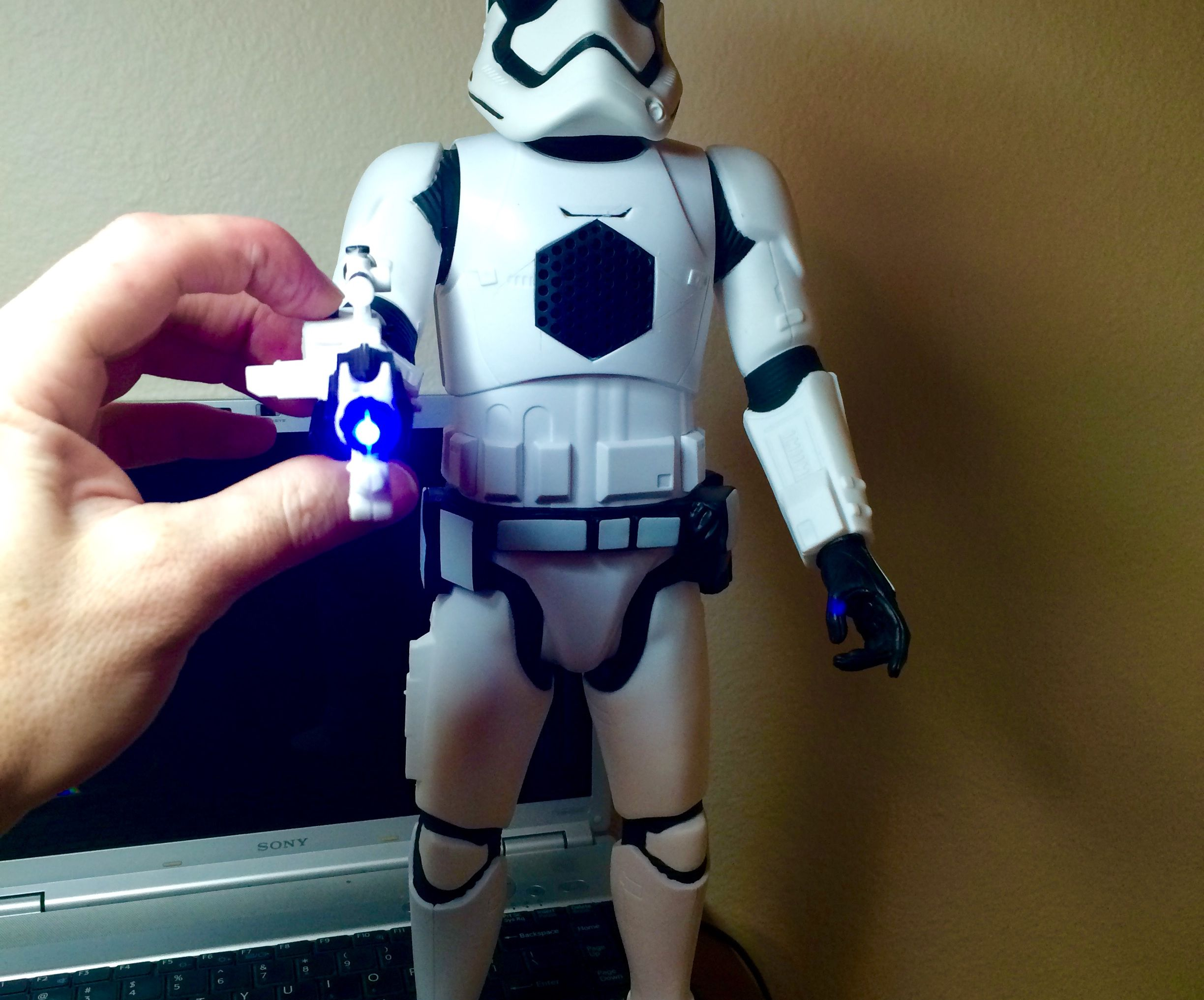 Storm Trooper Vs. Bluetooth Speaker
