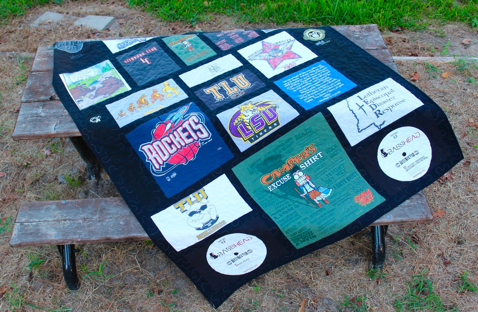Determine Desired Quilt Size & Number of Shirt Emblems Needed