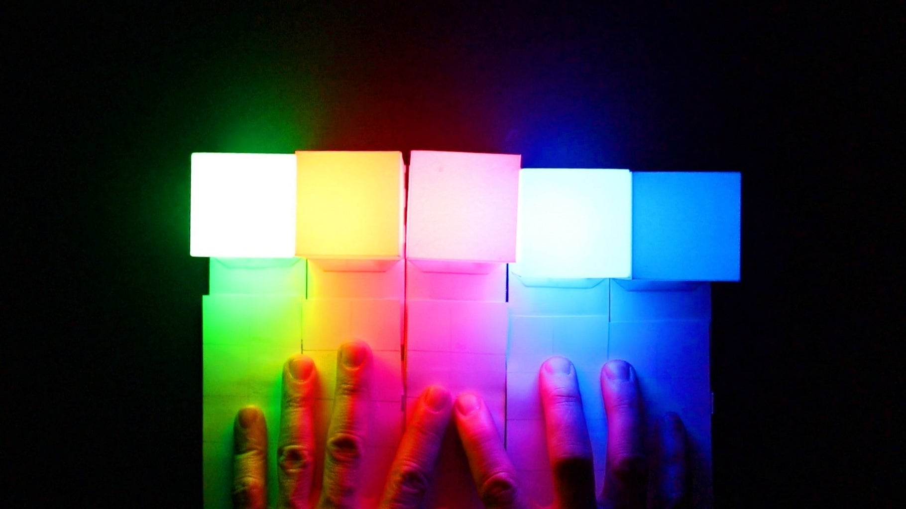 Touch Sensitive RGB Light Made From Paper