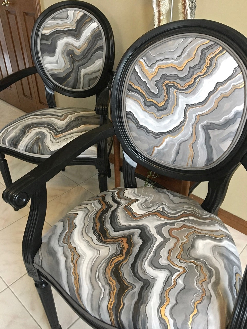 Geode Painted UpCycled Chairs