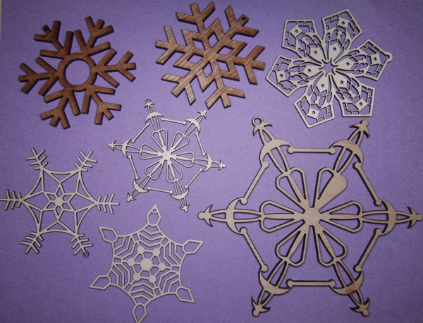 Christmas Snowflakes Decorations With Laser Cutter!