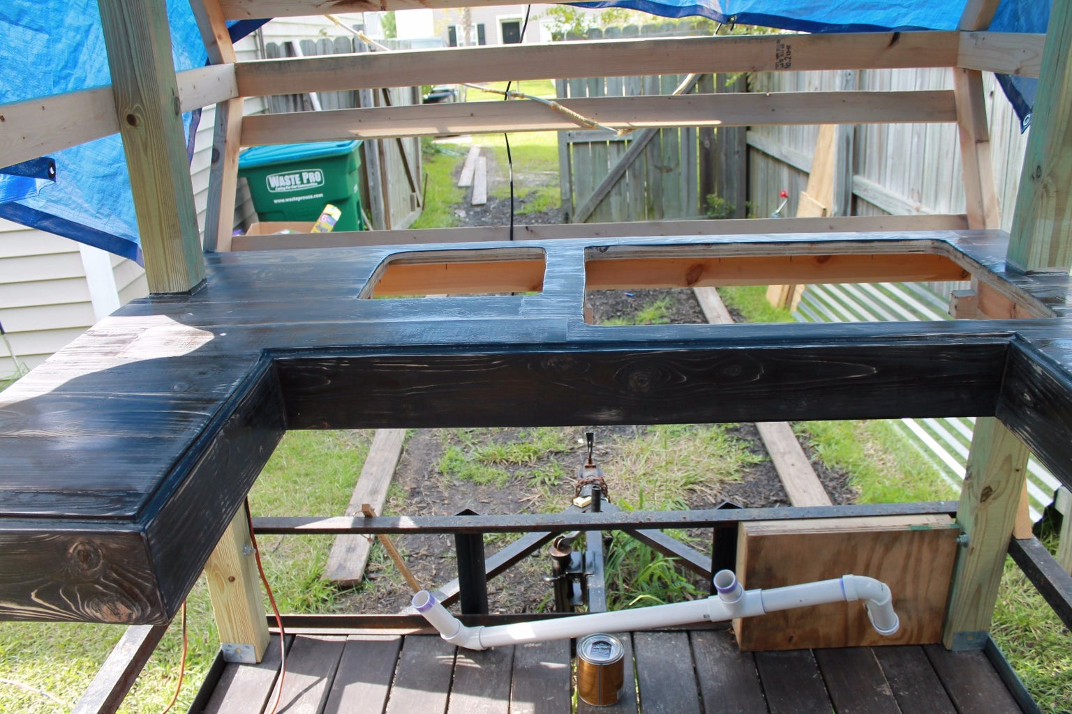 Building the Countertop, Hand Sink, and Dish Sink Area