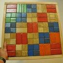 Wooden building block table top