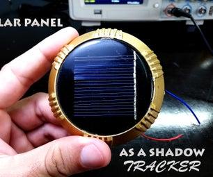 太阳能电池板作为影子跟踪器