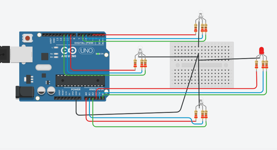 Arduino Traffic Light Controller Using RBG Led   4-Way