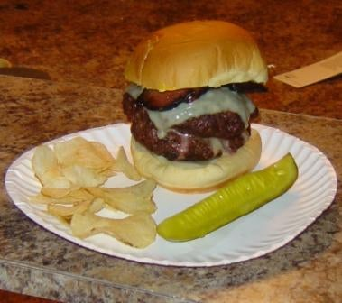 Stuffed Cheese Burger