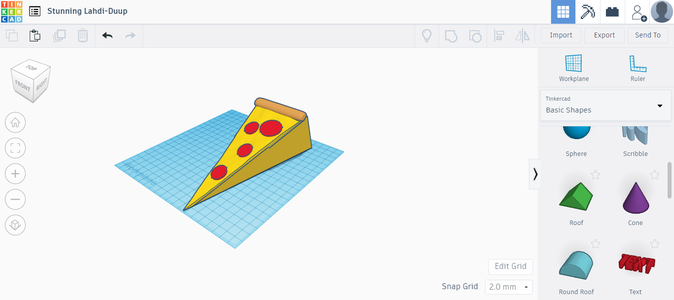 How to Make Pizza Doorstop With Tinkercad