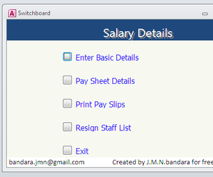 Create Ms Access Database Software to Prepare Salary in Your Company
