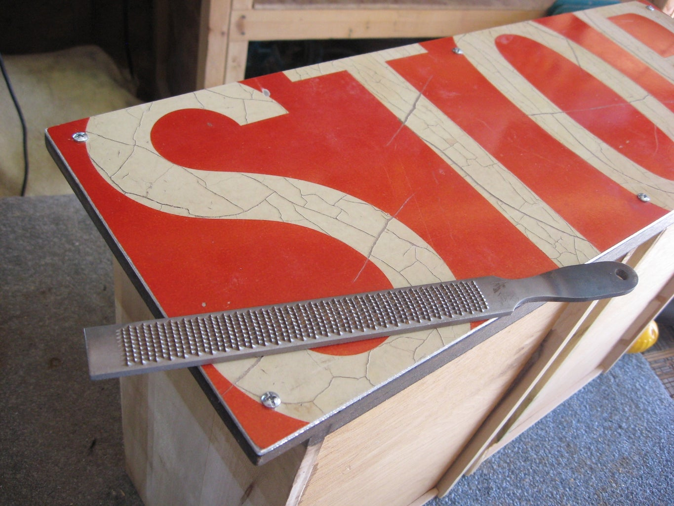 Attach Signs to Drawer Fronts