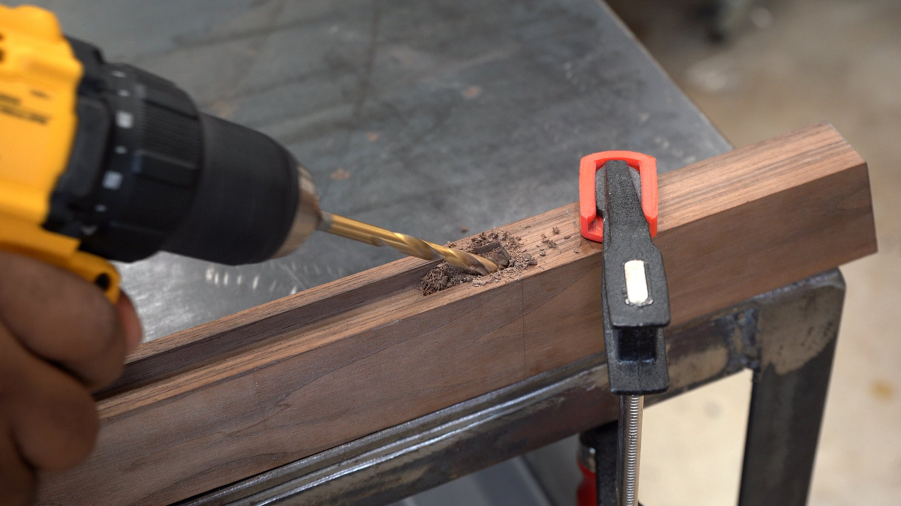 Drill a Hole to Pass the Light Power Wire