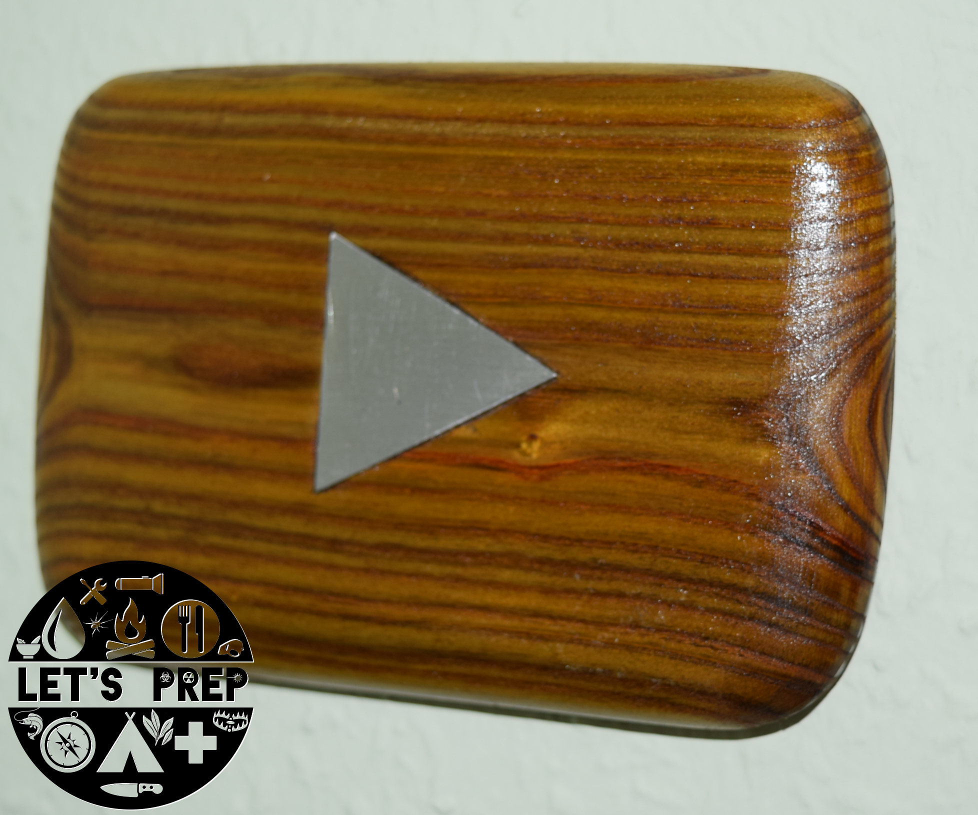 Wood & Aluminum YouTube Play button for 1000 Subs!!!