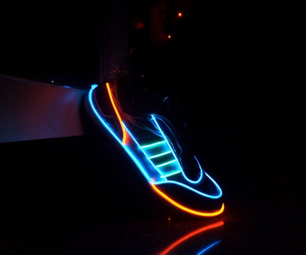 Electro-Luminescent Shoes