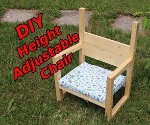 DIY儿童椅(高度可调)