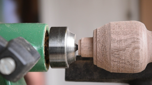 Turning the Handle and Fitting the Brass Nut Ferrule