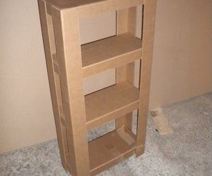 Easy Cardboard Shelves