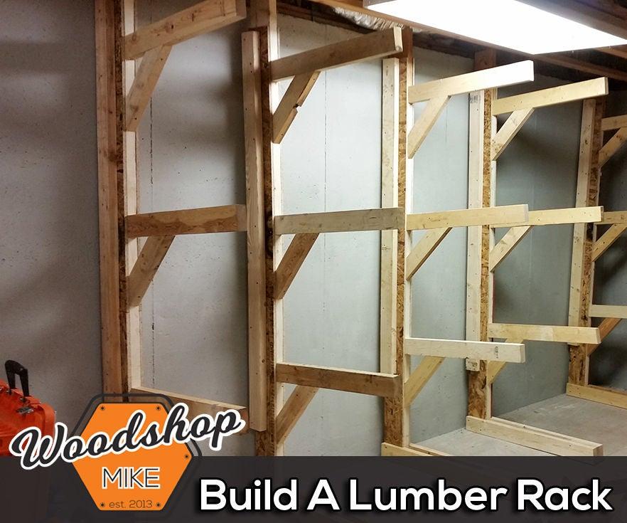 Free Standing Lumber Rack 4 Steps, Wood Storage Racks
