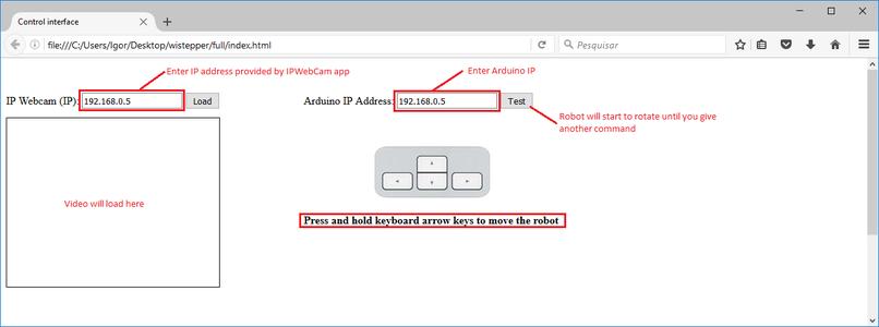 Web-based Control Interface