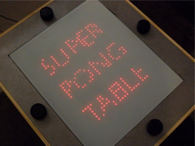 The Four Player Coffee Table Pong Video Game.