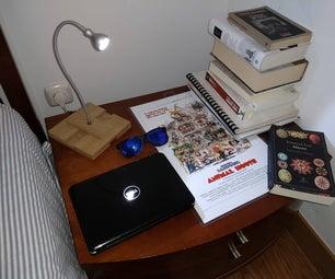 Ultrasimple Wooden Desk Lamp!