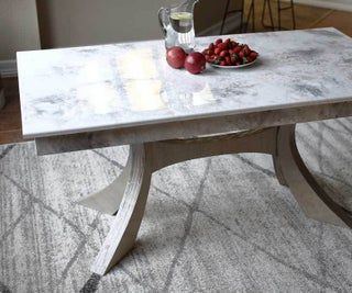DIY Kitchen Table With Stone Coat Epoxy