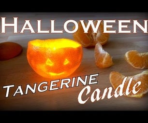 DIY Halloween Candle (using Tangerine and Oil)