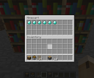 How to Make a Bookshelf Safe in Minecraft.
