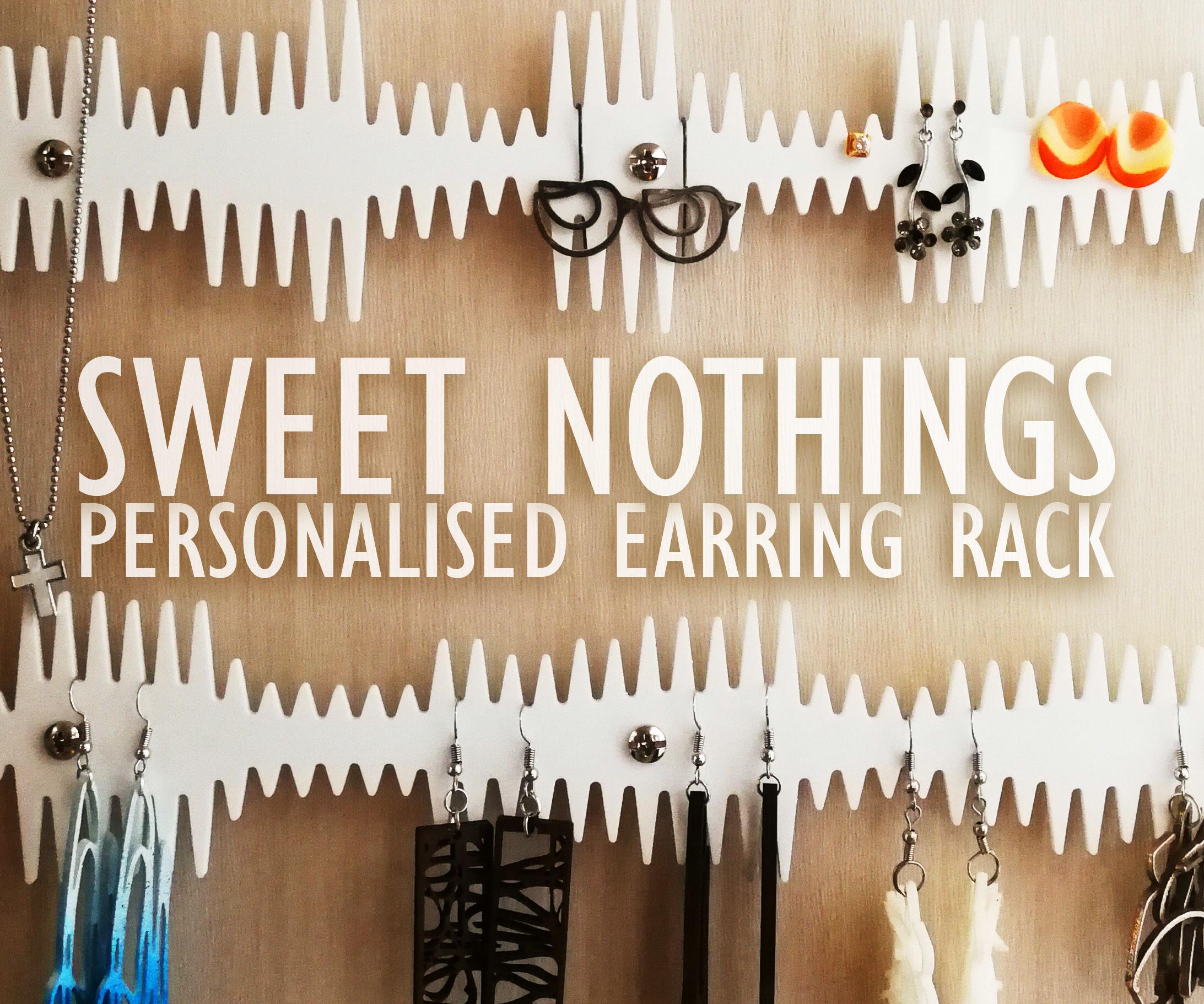 Personalised Soundwaves Earring Organiser