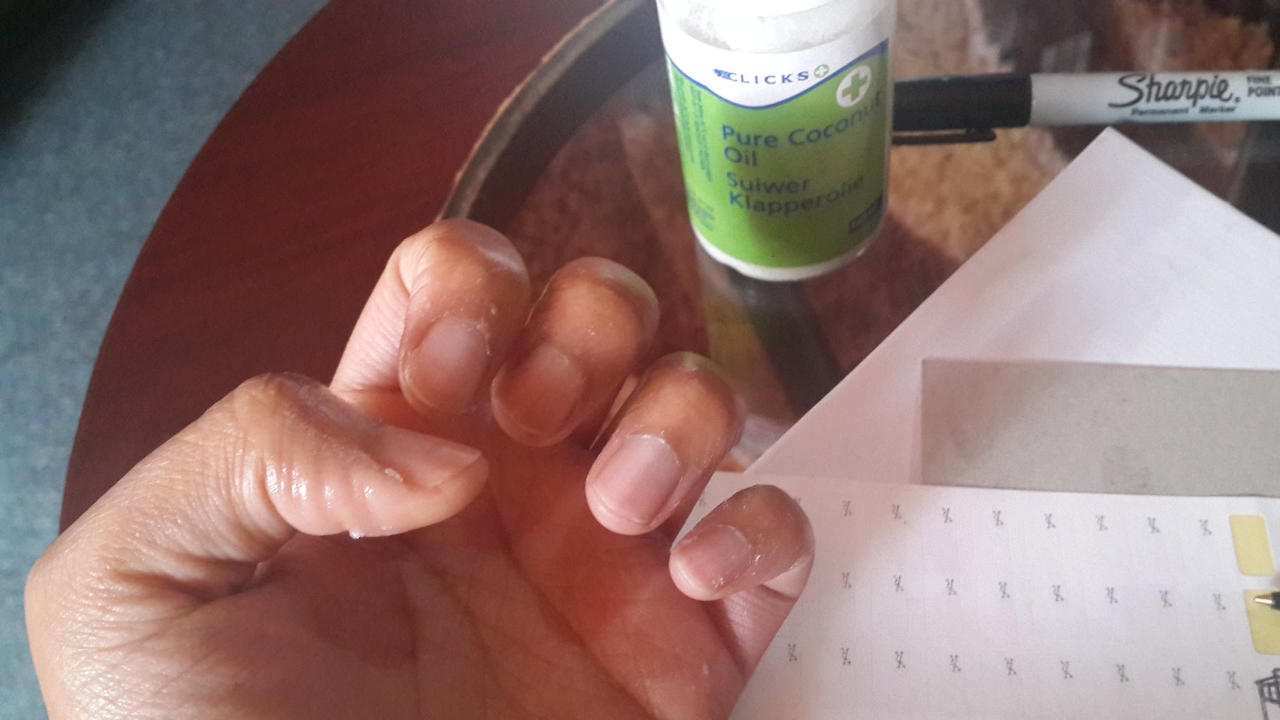 Rub Some Coconut Oil/petroleum Jelly on the Skin Around Your Nails