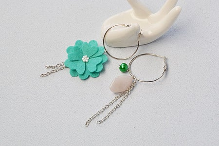 The Final Dangle Earrings Are Look Like This: